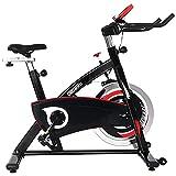 ONETWOFIT Bicicletas Estaticas, bicicleta estática con volante reforzado de 20KG y accionamiento silencioso por correa, bicicleta de entrenamiento de fitness para el gimnasio en casa OT319