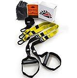 MAXBONA Trainer Kit de Entrenamiento en suspensión – Correas de Resistencia para Gimnasio/Fitness en Interiores y Aire Libre – Home Gym Ligero & Robusta (Amarillo Negro)…